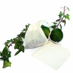 Sachet de thé réutilisable en coton bio GOTS