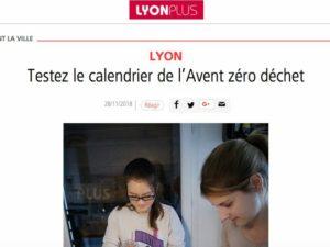 Article calendrier avent Lyon plus