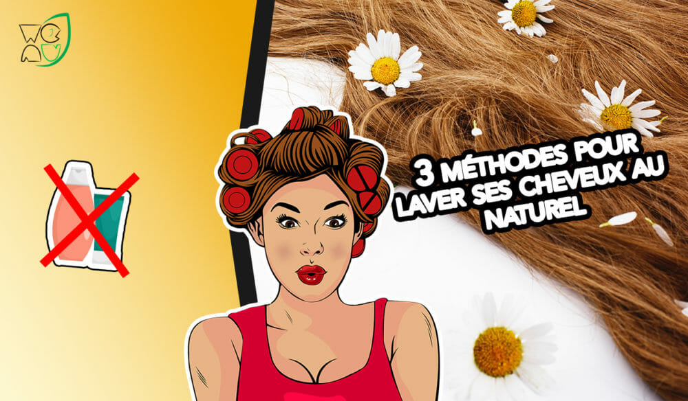 Illustration laver ses cheveux naturellement