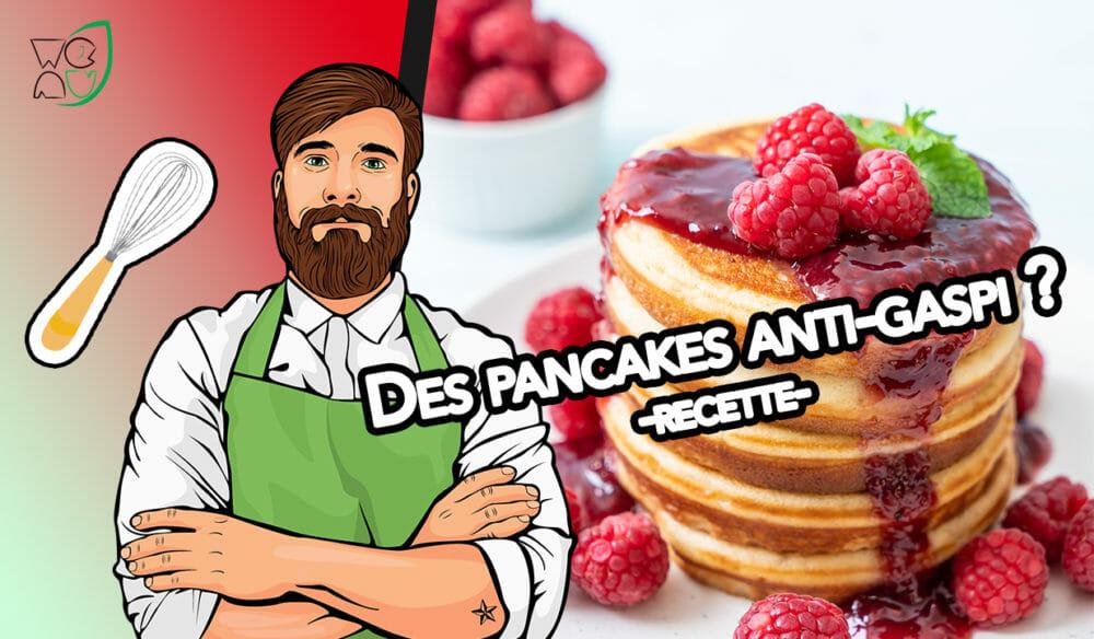 Recette anti-gaspi des pancakes à l'okara de soja