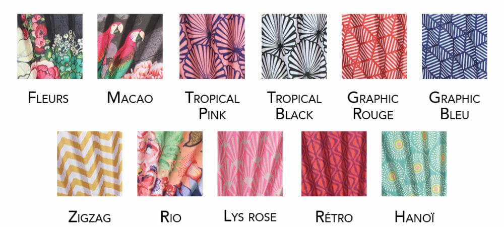 coloris éventails vent de bohème fabriqués en France