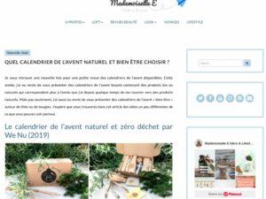 Capture Article calendrier zéro déchet Mademoiselle E
