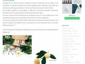 Capture d'écran sélection calendriers Blogbionature
