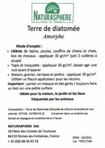 Certificat Terre de diatomée Naturasphere