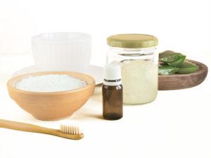 poudres diy bicarbonate acide citrique argile paillettes de savon